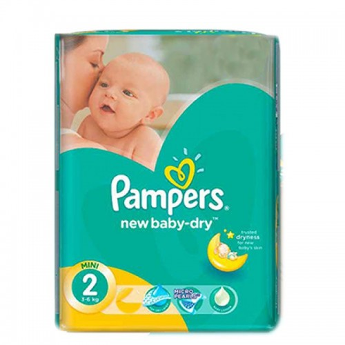 17 ΠΑΝΕΣ PAMPERS BABY ACTIVE DRY No2 (3-6kg)
